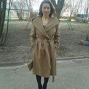 Одежда ручной работы. Ярмарка Мастеров - ручная работа Пальто удлиненное из кашемира с капюшоном. Handmade.
