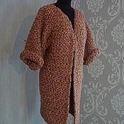Одежда ручной работы. Ярмарка Мастеров - ручная работа Вязаное пальто крупной вязки. Handmade.