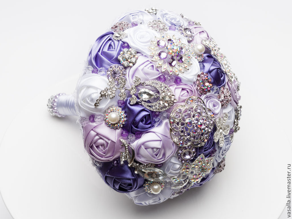 Brooch-Bouquet 'Lydia.', Wedding bouquets, Moscow,  Фото №1
