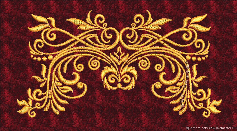 Бесплатный дизайн вышивки орнамента