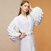 Одежда handmade. Livemaster - original item White long cardigan for women. Handmade.
