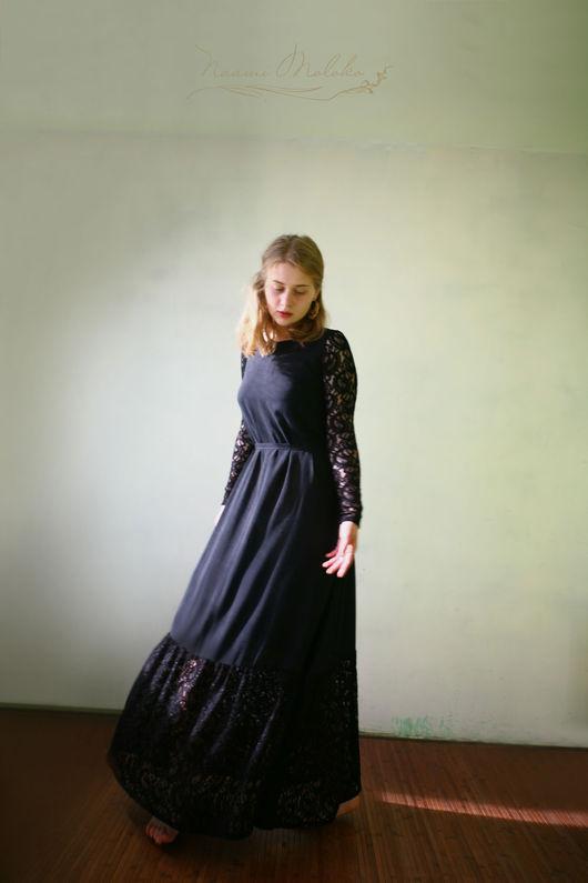 """Платья ручной работы. Ярмарка Мастеров - ручная работа. Купить Платье """"Бушра"""". Handmade. Черный, длинное черное платье"""