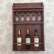 Полки ручной работы. Ярмарка Мастеров - ручная работа Модель 5 Полка для бокалов и вина в стиле прованс. Handmade.