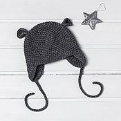 Работы для детей, ручной работы. Ярмарка Мастеров - ручная работа Шапочка детская вязаная Little Mouse. Handmade.