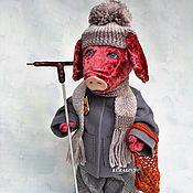 Поросенок Тедди- авторский коллекционный Свин- подарок на день рождени