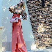 Одежда ручной работы. Ярмарка Мастеров - ручная работа Длинная юбка из дикого шелка, разные цвета. Handmade.