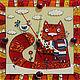 """Часы для дома ручной работы. Ярмарка Мастеров - ручная работа. Купить Часы мини """"Котофей Котофеич"""". Handmade. Часы, Кошки"""