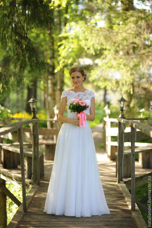 Одежда и аксессуары ручной работы. Ярмарка Мастеров - ручная работа. Купить Свадебное платье. Handmade. Белый, невеста, белое платье