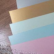 Материалы для творчества handmade. Livemaster - original item Designer paper - Majestic luxus,the density of 290 grams, mother of pearl. Handmade.