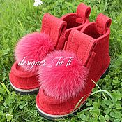 """Обувь ручной работы. Ярмарка Мастеров - ручная работа Валенки, модель """"Ягодки"""". Handmade."""