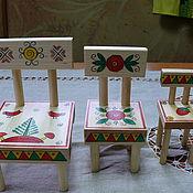 Куклы и игрушки ручной работы. Ярмарка Мастеров - ручная работа Стулья для трёх медведей.. Handmade.