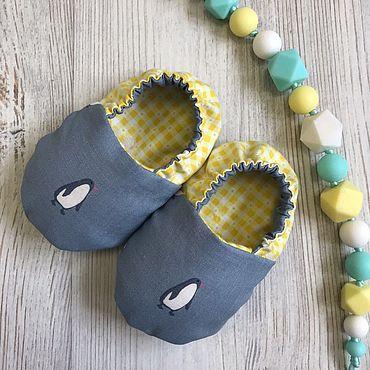 Товары для малышей ручной работы. Ярмарка Мастеров - ручная работа Моксы для малышей Little-Kiddy Пингвинчики. Handmade.