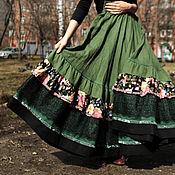"""Одежда ручной работы. Ярмарка Мастеров - ручная работа Льняная юбка """"Праздничная"""". Handmade."""