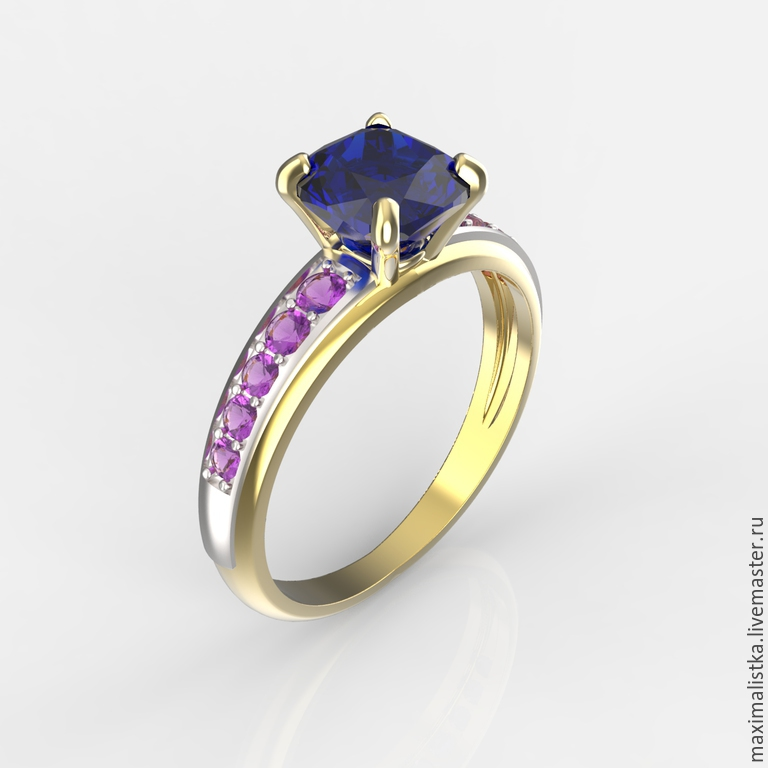 The ring is 'Magic' gold 585, emerald, sapphires, Rings, Moscow,  Фото №1