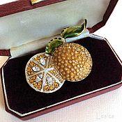 Винтаж handmade. Livemaster - original item Brooch Monet Juicy orange USA. Handmade.
