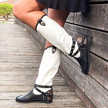Обувь ручной работы. Ярмарка Мастеров - ручная работа Итальянские сапожки ручной работы VOLARE. Handmade.
