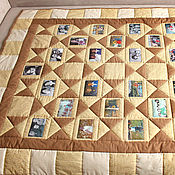 Для дома и интерьера ручной работы. Ярмарка Мастеров - ручная работа Лоскутное одеяло с фотографиями. Handmade.