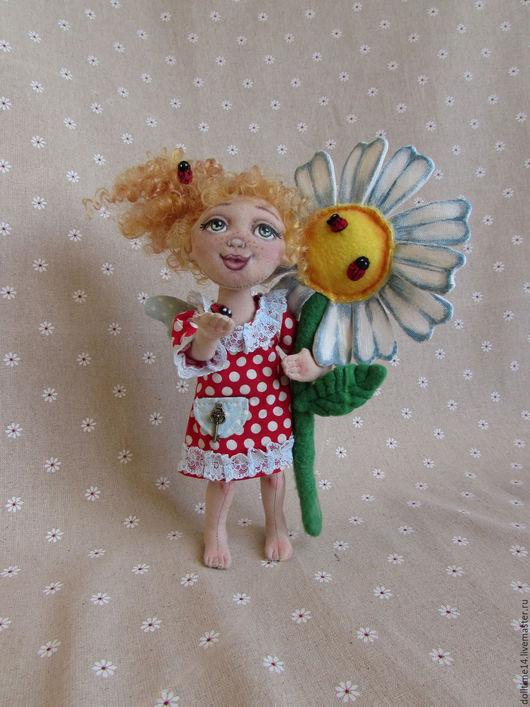 Сказочные персонажи ручной работы. Ярмарка Мастеров - ручная работа. Купить текстильная кукла Феечка хорошего настроения. Handmade. Комбинированный