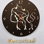 Часы классические ручной работы. Ярмарка Мастеров - ручная работа Авторские часы из фанеры. Handmade.
