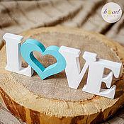 Для дома и интерьера ручной работы. Ярмарка Мастеров - ручная работа Слово LOVE из дерева. Handmade.