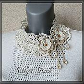 handmade. Livemaster - original item Collar openwork