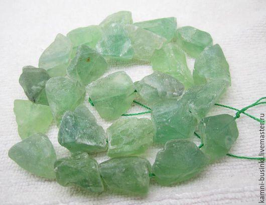 Флюорит 20-35 мм необработанные камни, самородок. Бусины флюорита для колье, флюорит фриформ бусины для браслетов, зеленый флюорит бусины для серег.