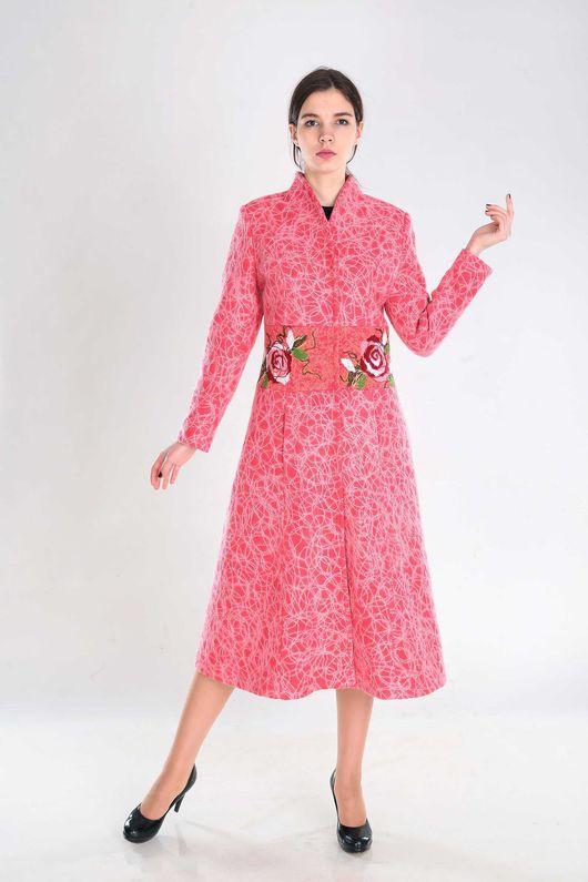 Верхняя одежда ручной работы. Ярмарка Мастеров - ручная работа. Купить П 76. Handmade. Коралловый, пальто женское, весна