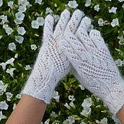 Аксессуары handmade. Livemaster - original item feather gloves. Handmade.