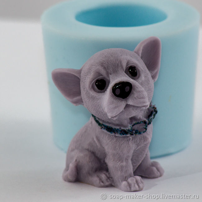 Silicone mold for soap 'Dog 5 3D', Form, Shahty,  Фото №1