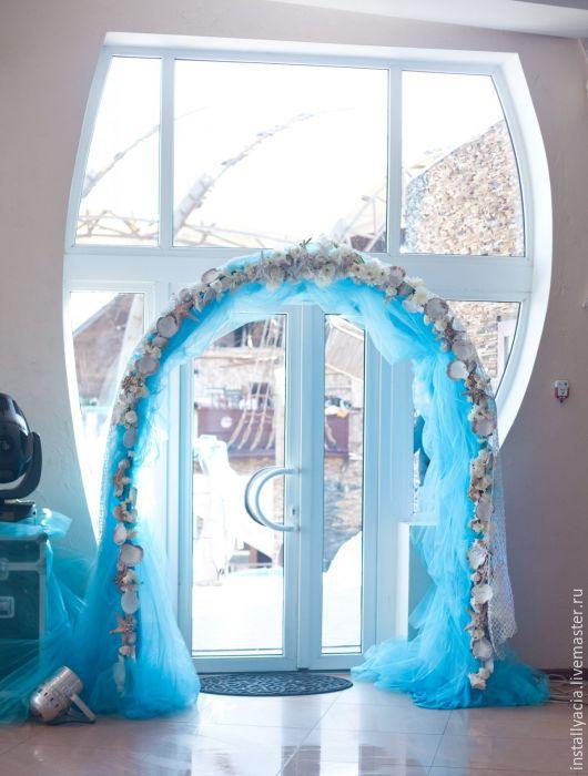 Свадебные цветы ручной работы. Ярмарка Мастеров - ручная работа. Купить Свадебное оформление в небесно голубом. Handmade. Голубой, цветы