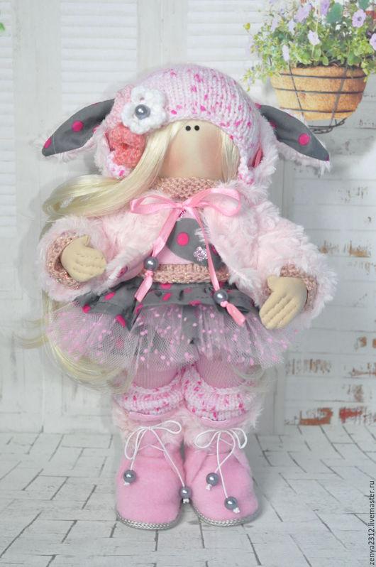 Куклы тыквоголовки ручной работы. Ярмарка Мастеров - ручная работа. Купить Текстильная интерьерная кукла ручной работы. Handmade. Комбинированный