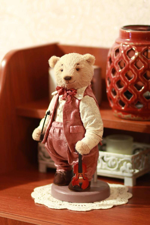 Мишка Тедди скрипач 26 см, Игрушки, Рязань, Фото №1