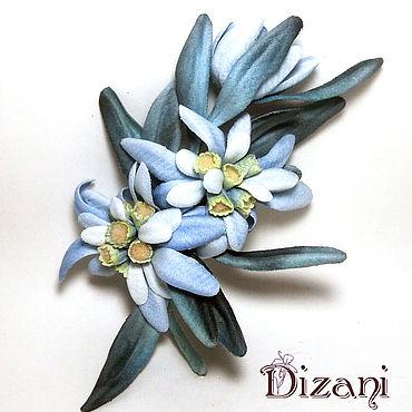 Flowers and floristry handmade. Livemaster - original item Velvet Edelweiss. Silk flowers. FABRIC FLOWERS. Handmade.