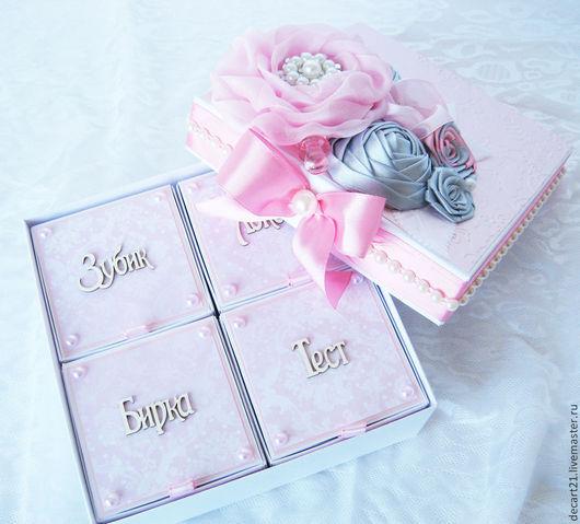 """Подарки для новорожденных, ручной работы. Ярмарка Мастеров - ручная работа. Купить """"Мамины сокровища"""" (на 4 коробочки). Handmade."""