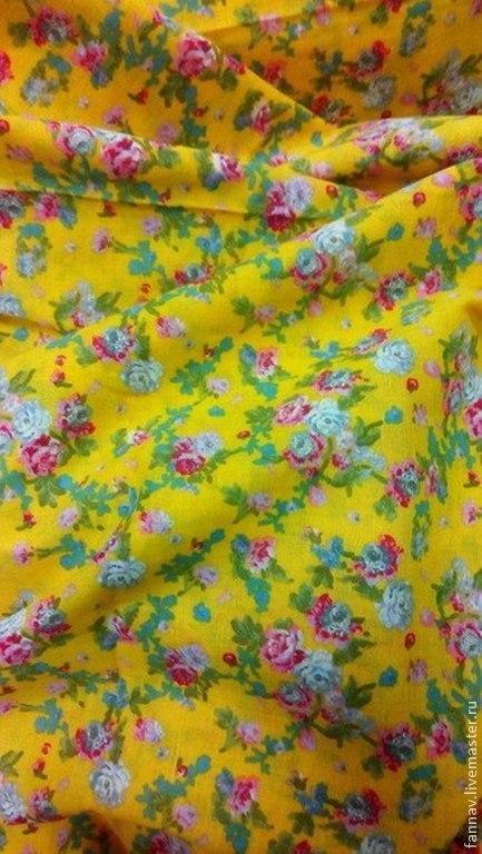 Шитье ручной работы. Ярмарка Мастеров - ручная работа. Купить Вуаль. Handmade. Желтый, цветочек, вуаль, платье, блузка, хлопок