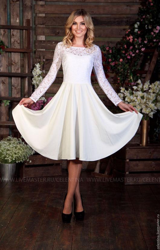 белое нарядное платье, кружевное платье, коктейльное платье, платье на выход, короткое вечернее платье, платье нарядное, платье до колена, красивое платье, платье на заказ, платье из кружева, платье