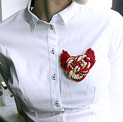 Украшения handmade. Livemaster - original item Brooch Love Heart with flaming wings. Handmade.
