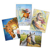 Открытки handmade. Livemaster - original item Horse cards Set of 4 pieces. Handmade.