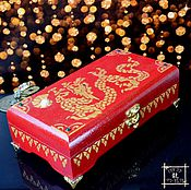 "Фен-шуй и эзотерика handmade. Livemaster - original item Cash Box ""Dragon Feng Shui"",Feng Shui gifts, Hieroglyph Wealth. Handmade."