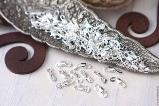 Для украшений ручной работы. Ярмарка Мастеров - ручная работа. Купить Карабин-застежка стерлинговое серебро 925 проба (3 шт). Handmade.