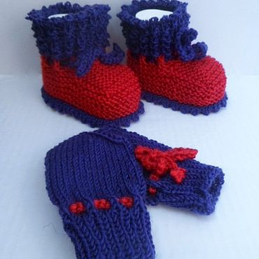 Works for children handmade. Livemaster - original item Booties and scratchy. Handmade.