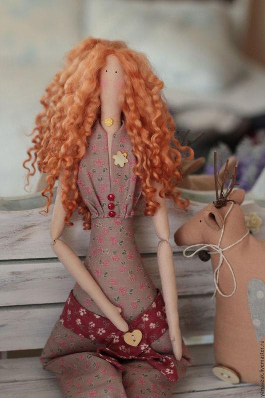 Куклы Тильды ручной работы. Ярмарка Мастеров - ручная работа. Купить Гламурная Хлоя цветочная фея.. Handmade. Рыжий, ангел