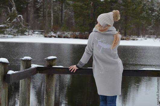 Верхняя одежда ручной работы. Ярмарка Мастеров - ручная работа. Купить Scandinavian wild. Handmade. Серый, wool, wool