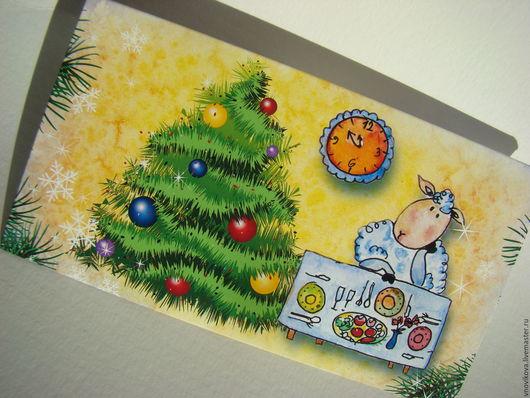 """Конверты для денег ручной работы. Ярмарка Мастеров - ручная работа. Купить Конверт для денег """" Новогодние истории  """" (1). Handmade."""
