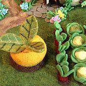 Куклы и игрушки ручной работы. Ярмарка Мастеров - ручная работа декорация полянка для кукольного театра. Handmade.