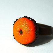 """Украшения ручной работы. Ярмарка Мастеров - ручная работа Кольцо """"Толстый апельсин"""". Handmade."""