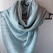 Аксессуары handmade. Livemaster - original item Scarf linen Sea wave (72cmx 200cm). Handmade.