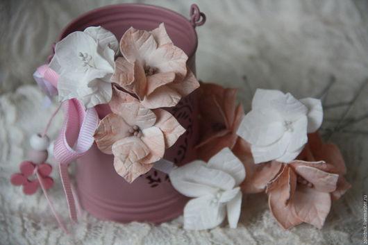 Свадебные украшения ручной работы. Ярмарка Мастеров - ручная работа. Купить Шпильки с цветами из фоамирана.. Handmade. Бежевый, шпильки для невесты