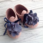 Работы для детей, handmade. Livemaster - original item Booties felted fialochka.. Handmade.