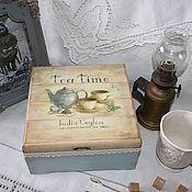 """Для дома и интерьера ручной работы. Ярмарка Мастеров - ручная работа Коробка  для чая """"Tea time!"""". Handmade."""
